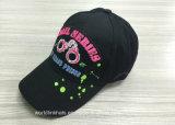 O costume do boné de beisebol do miúdo da correção de programa do bordado imprimiu o chapéu de basebol de 6 painéis