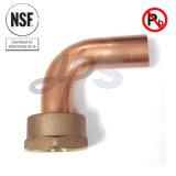 Rame d'ottone a basso tenore di piombo approvato del NSF montaggio del tester del gomito da 90 gradi