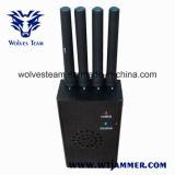 Negro de alta potencia portátiles 3G 4G LTE Jammer Teléfono móvil