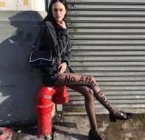 Пользовательские моды полиэстер Tattoo алфавит носки шланг хранение