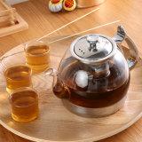 茶フィルターが付いている電磁石のガラスティーポット
