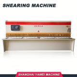 E21 da placa oscilante hidráulico CNC guilhotinas máquina ferramenta para aço de corte