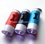 Bolsa de residuos de caca de Pet LED dispensador, accesorios de perros