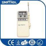 un termómetro con la función de la alarma