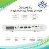 Smart WiFi mini proyector multimedia de bolsillo 1080p con el Digital de Alto Brillo proyector DLP