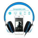 Écouteurs avec le poids léger de microphone pliant les écouteurs stéréo pour l'iPhone