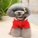 도매 최신 판매 귀여운 견면 벨벳 개 애완 동물 주문 재미있은 크리스마스 장식적인 옷