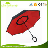 바람 증거 겹켜 리버스 C 유형 손잡이 우산