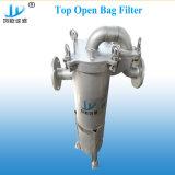 Parte superiore dell'acciaio inossidabile SUS304 316L in filtro a sacco per il trattamento delle acque puro