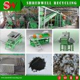 Linha de reciclagem de alta qualidade de Resíduos e desperdícios de trituração/pneu usado para 1-5mm migalhas de Borracha