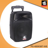 Altofalante profissional portátil do MP3 Bluetooth do amplificador da bateria de 8 polegadas