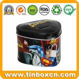 節約のためのスーパーマンの錫の貯金箱の金属のセービングボックス