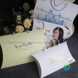 枕形の結婚式の好意のギフトの好意キャンデーの印刷の包装ボックスをカスタマイズしなさい