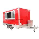 De volledig Uitgeruste Richtende Vrachtwagen van het Voedsel van de Aanhangwagen Mobiele