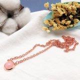실제적인 인도 시장을%s 색깔 구슬 돌을%s 가진 로즈 금에 의하여 도금되는 목걸이