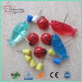 2017 de Nieuwste Speld van de Duw van het Lieveheersbeestje van de Speld van de Kaart van de Stijl Plastic Hoofd als Kopspijkers van de Duim