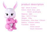 Lapin électronique de bébé de lapin de paresse de licorne d'écureuil de panda de singe d'animal familier interactif comme jouet des gosses