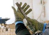 자르 저항하는 Anti-Abrasion 안전 일 장갑 (세륨 커트 수준 5)가 위장에 의하여 뜨개질을 했다