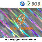Переход Hologram металлизировал бумагу прокатанную бумагой для упаковывать