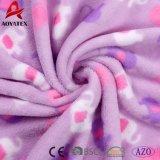Cobertor 100% impresso do bebê do velo do poliéster HOME coral macia super