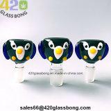 Waterpipes 또는 비커 14mm/18mm 남성 또는 여성 합동을 연기가 나기를 위한 상한 유리 그릇 귀여운 새