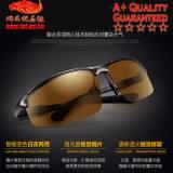 3121 lunettes de soleil polarisées par décoloration d'Aluminium-Magnésium pour piloter de jour et de nuit