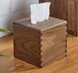 Rectángulo de madera del tejido de la insignia de la nuez de encargo del cuadrado para el restaurante del hogar del hotel