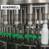 [ب] زجاجة ألومنيوم زجاجة غسل يملأ يغطّي آلة