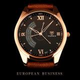 Reloj de lujo del reloj de los hombres de la correa de cuero del asunto H337 para los hombres