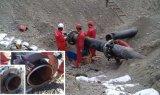 Découpage froid lourd de pipe et machine taillante sur le site