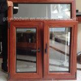 Feste Lärche hölzernes Castment Fenster mit doppeltem ausgeglichenem Glas