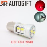Populäre S25 1157 5730 20SMD verdoppeln Farben-Selbstdrehung LED