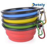 De Vrije Vouwbare Kom van de Reis van het Water van het Voedsel voor huisdieren van de Levering van het Huisdier BPA Opvouwbare