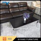 ステンレス鋼のガラスコーヒーテーブルの家具