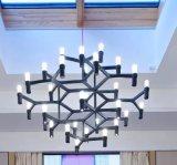 Vela de cristal de oro de moderna decoración de forma de araña de luces LED lámpara colgante