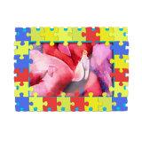 Engraçado personalizadas em PVC maleável moldura fotográfica de imagem 3D com suporte