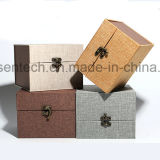 Diseño simple cuadrado de superficie de tejido de cajas de regalo para China/vidrio/botella