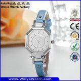 Relojes ocasionales de las señoras del cuarzo del reloj de la correa de cuero de la fábrica (Wy-073D)