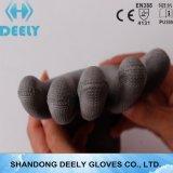Gants gris de travail enduits par unité centrale de doublure en gros de polyester