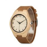 Cuarzo de madera de bambú del reloj de los hombres de la promoción