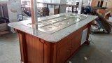 De commerciële Marmeren Houten Staaf van de Salade van de Ijskast van de Diepvriezer van het Buffet