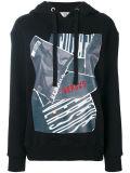 Suéter largo impreso Hoodie de las fundas de las mujeres