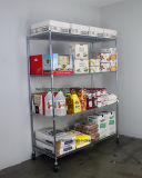 Регулируемый шкаф хранения еды оборудования трактира вагонетки полки Shelving провода крома 4 ярусов