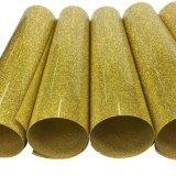 Vinilo de oro del traspaso térmico del brillo del brillo para las materias textiles