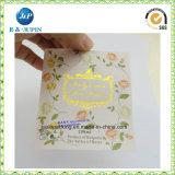 2017 escrituras de la etiqueta autas-adhesivo coloridas de encargo para los envases de alimento (jp-s157)