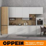 Gabinete de cozinha branco quente moderno do padrão de largura da venda 360cm de Oppein (OP17-PVC05)