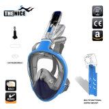 Nova máscara de mergulho Facial máscara de mergulho com snorkel, dobrável