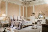 Apprettatrice di scultura di legno solida della mobilia antica della camera da letto dei 0066 europei