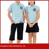 Crear las camisas 100% de polo para requisitos particulares del desgaste de la escuela del piqué del algodón para los deportes (U25)