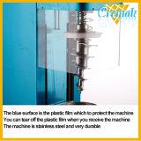 La Mesa de acero inoxidable de Helado de frutas de la máquina de fusión con cono de acero inoxidable